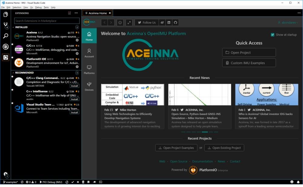 OpenIMU平台主页
