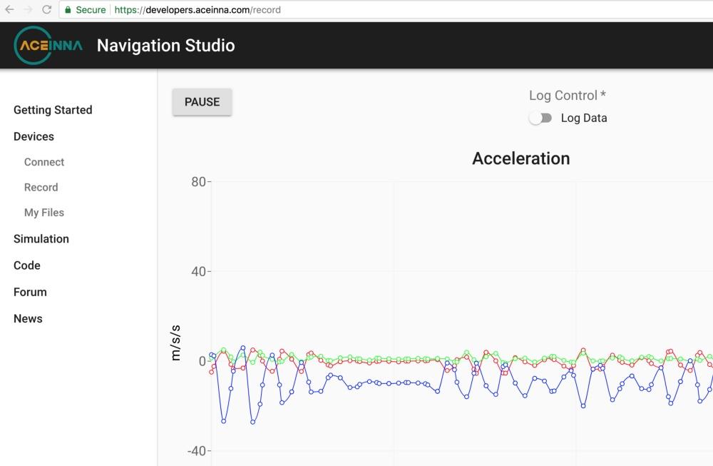 应用Aceinna Navigation Studio进行实时数据采集和记录